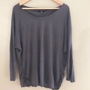 Forever 21 Plus Size Gray Scoop Like New Top 2X